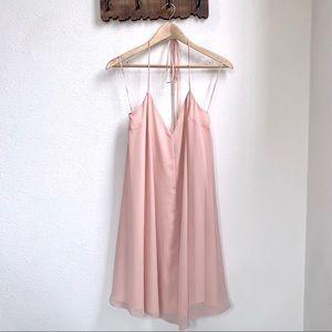 ASOS   Blush Pink Slip Mini Dress